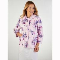 Slenderella|Fleece|Bedjacket|BJ2310|pink|floral|ladies bed jacket|ladies gift ideas|gifts for her|gifts for mum|gifts for nan|Christmas gifts|Pollard and Read