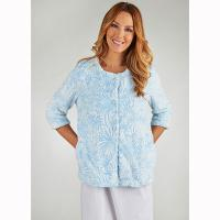 Slenderella|Bed Jacket|BJ7305|blue|traditional bed jacket|housecoat|night wear|lounge wear|Pollard and Read