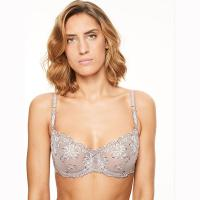 Champs Elysees|Chantelle|2605|lingerie|ladies lingerie|balcony|Chantelle lingerie|demi cup|sheer|tulle|dusky mink|pollard and read