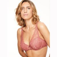 Molitor|Chantelle|bra|C26310|Antique Rose|triangle bra|brand name lingerie|D cup|DD cup|E cup|plus size|bigger bust|fuller bust|