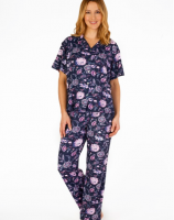 Gasps|Supersoft|Floral|Print|Pyjama|GL4703|