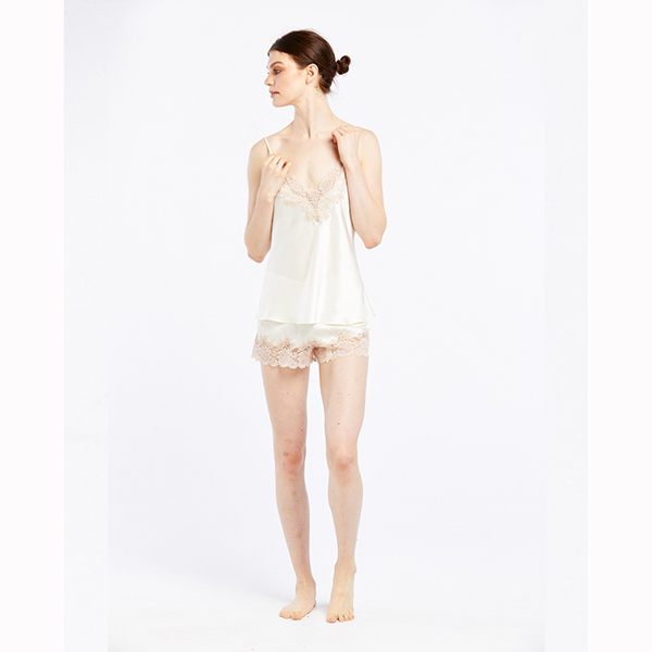 Ginia Silk Camisole with Lace GPM201 C D cd4bdc1c3