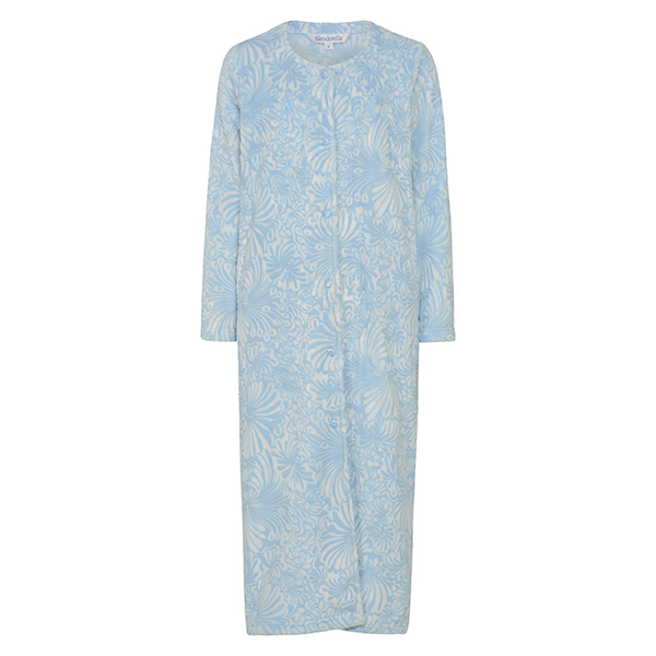 HC7306|Slenderella|floral|button through|housecoat|dressing gown|ladies dressing gown|button down dressing gown|Pollard and Read|gifts for her|