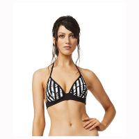 Moontide|booster|bikni top|M6813KA|halter neck|tie up bikini|monotone|black and white|