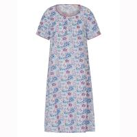 Slenderella|Cotton N/dress|ND1252|BLue|cotton nightdress|nightie|nightdress|ladies lunge wear|summer nightie|summer night gown|