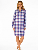 Slenderella|Cotton|Check|Nightshirt|NS4215|
