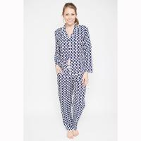 Cyberjammies|Rosie|navy Spot|long sleeve|long pant|geometric print|ladies sleepwear|ladies pyjamas|gifts for her|gifts for mum|Pollard and Read