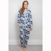 Zoe|Cyberjammies|Floral|navy|pyjama set|traditional set|matching set|gifts for her|gifts for mum|Christmas|Pollard and Read