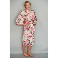 Kimono Robe|Caro London|ladies kimono|cotton|summer dressing gown|holiday dressing gown|100% cotton|pool side|beach cover|